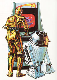 Droids playing computer game