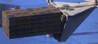 Imperial cargo ship docked