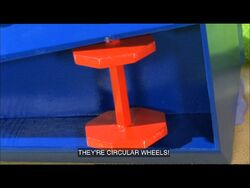 Finbar sees the wheels on Reg's car