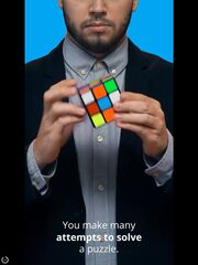 Rubik's cube from Olymp Trade advertisement