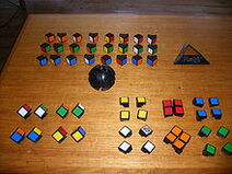 Unassembled Rubik's Revenge