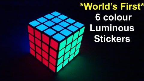 *World's first* Luminous Glow in dark 6 col sticker sets @ Oliverstickers
