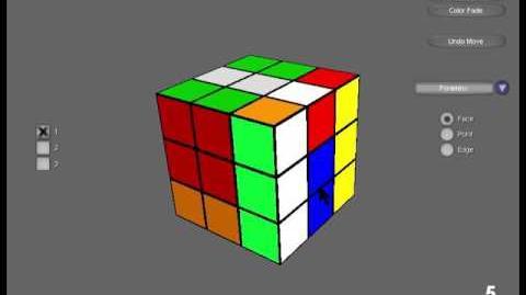Edge three-cycle demo using Ultimate Magic Cube