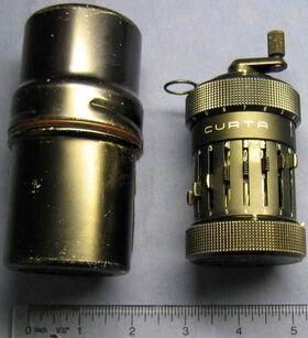 Curta Mechanical Calculator Type I With Case Curt Herzstark Contina AG Mauren