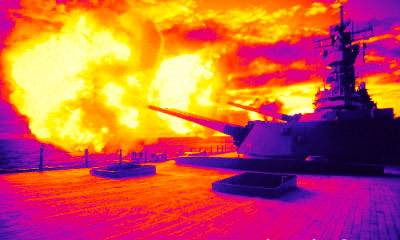 Graphic-infrared-evolution-military-ship