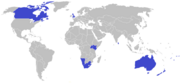 2006 Commonwealth Games rugby sevens competing countries map