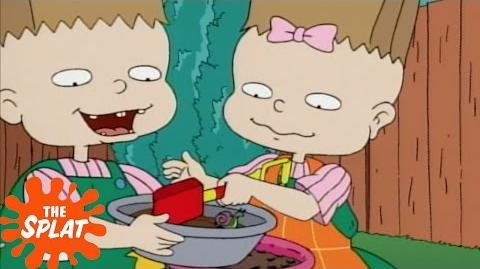 Phil and Lil Make Mud Pie Rugrats The Splat