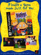 Nickelodeon Magazine November 1998 Rugrats Playstation Search for Reptar Advertisement