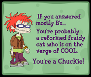Chuckie Personality Quiz Result