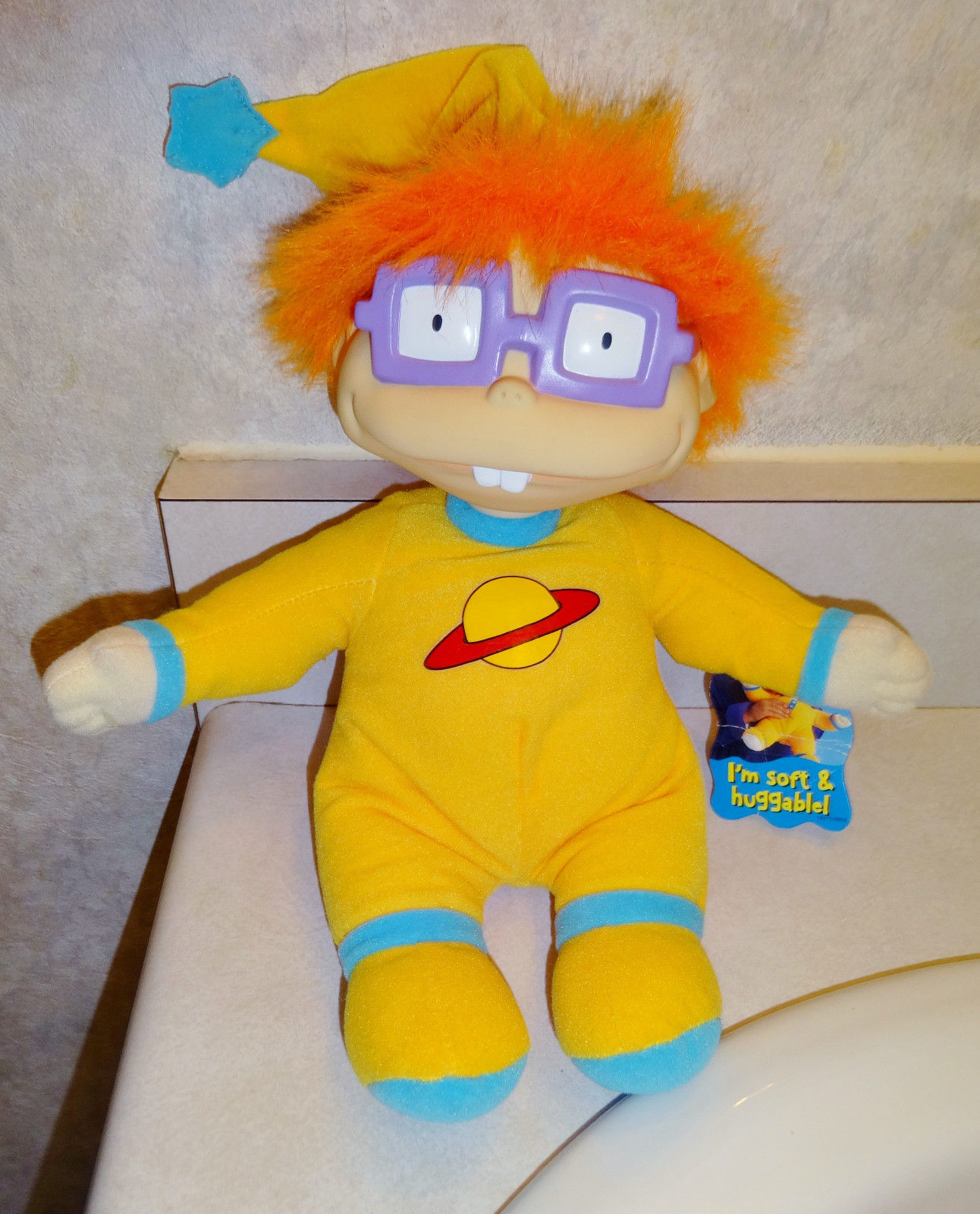 Chuckie Finster In Pajamas Rubber Face Mattel Plush Doll
