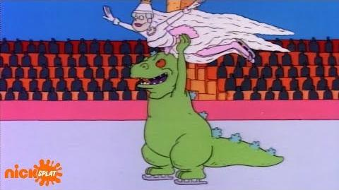 Reptar Sings 🎶 What's A Dinosaur To Do, When There's Kids On The Ice! 🎶 NickSplat