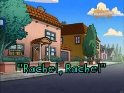 All grown up rachel rachel