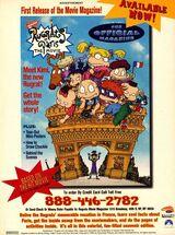 Rugrats in Paris Official Movie Magazine print ad NickMag Nov 2000