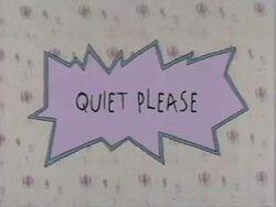 Quiet, Please! Title Card