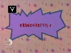 Rhinoceritis Title Card