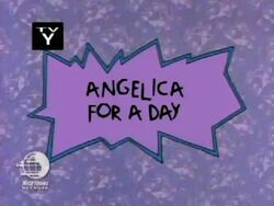 Angelica for a Day Title Card