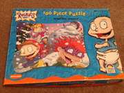 Rugrats Tommy Chuckie and Angelica Puzzle Size