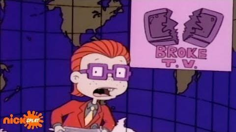 Chuck Finster with the Evening News Rugrats Nick Splat