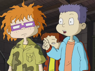 Chuckie and Tommy Curse of Reptar