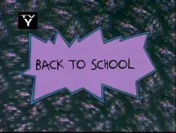 Back To School Title Card