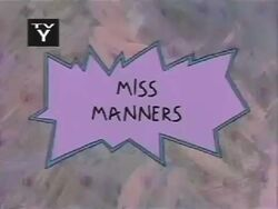 Miss Manners Title Card