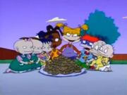 Rugrats all eating cookies