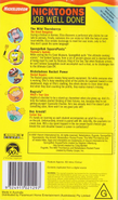 Nicktoons Job Well Done VHS Back Cover