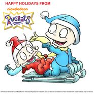 Tommy and Dil Happy Holidays Rugrats 2018