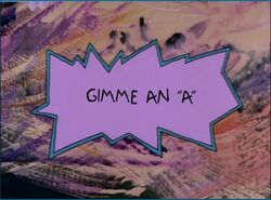 Rugrats Gimme An A