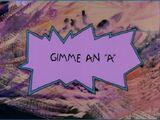 """Gimme an """"A"""""""