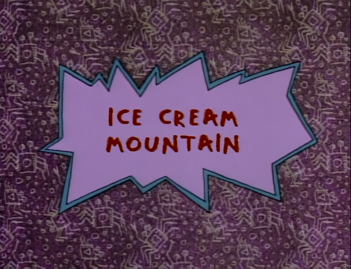Tommy Pickles Ice Cream Tattoo On His Face: Ice Cream Mountain