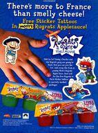 Rugrats in Paris applesauce print ad NickMag Oct 2000