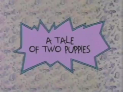 A Tale of Two Puppies Title Card