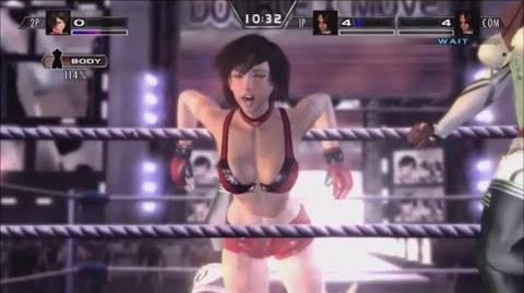 Rumble Roses XX - Double X Move (Running Dropkick)
