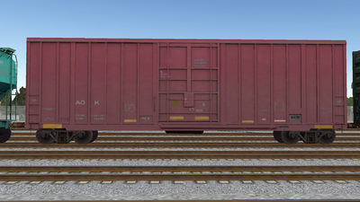 R8 Boxcar 50ft PlateF AOK01