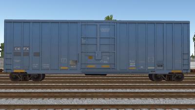 R8 Boxcar 50ft PlateF CEFX01