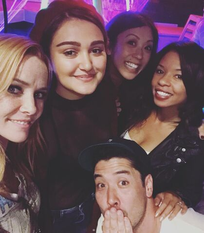 File:BTS Brittany Ishibashi IG Annie Wesching, Ariela Barer, and Angel Parker.jpg