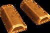 Gold wedge key detail