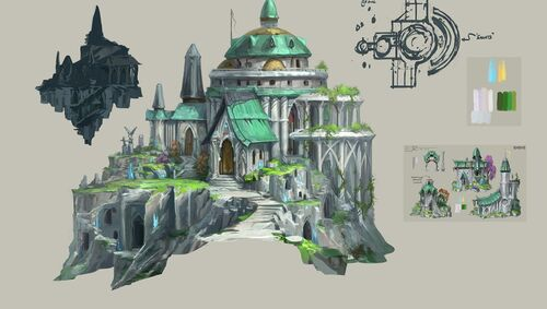 Hefin cathedral concept art