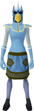 Mighty slayer helmet (e) (blue) equipped