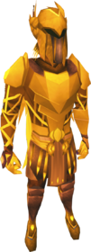 Golden warpriest of Armadyl set equipped