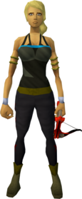 Off-hand dragon crossbow equipped