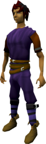 Ranger boots (yellow) equipped