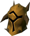 Golden warpriest of Bandos helm detail