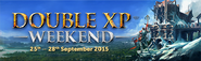 September 2015 Double XP Weekened lobby banner