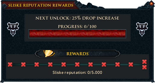 Sliske Reputation Rewards