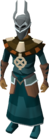 Ancient ceremonial robes equipped old