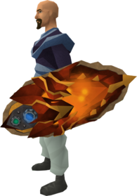 Augmented dragonfire shield (dragonfire) equipped