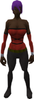Retro hardworn minidress