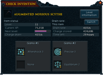 Check invention interface